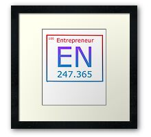 PERIODIC PARODY ELEMENT - ENTREPRENEUR Framed Print