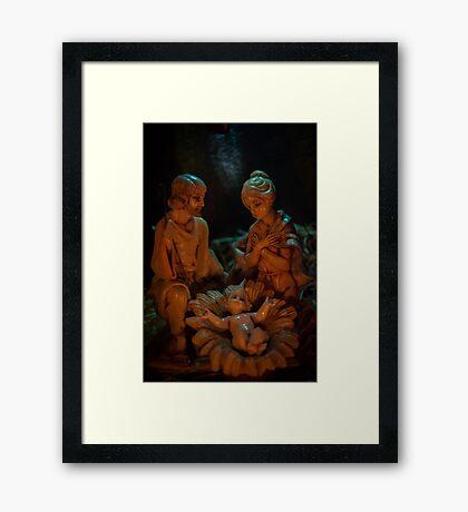 Nativity (portrait) Framed Print