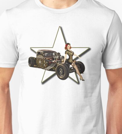 Military Rat Rod Unisex T-Shirt