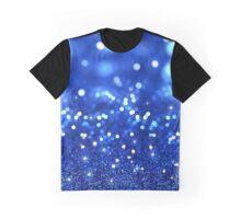 Pretty Shiny Blue Glitter  Graphic T-Shirt