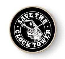 Save The Clock Tower (White Print) Clock