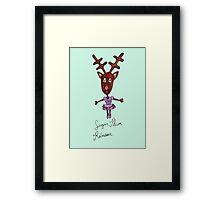 Sugar Plum Reindeer Framed Print