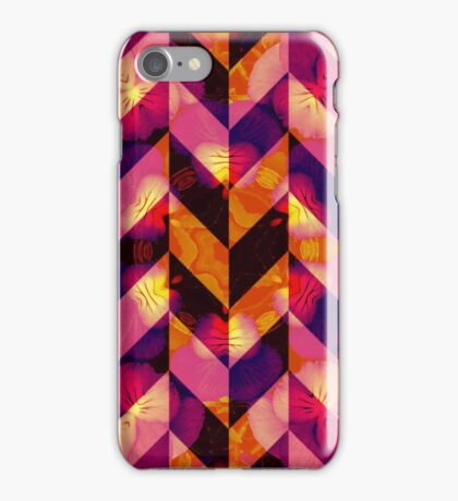 Floral Herringbone iPhone Case/Skin