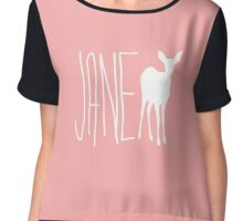 Jane Life is Strange - White Chiffon Top