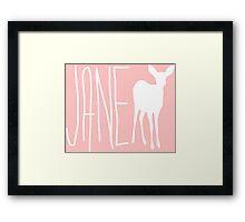 Jane Life is Strange - White Framed Print