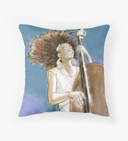 Natural Hair love. Base player Throw Pillow