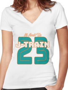 All Aboard the Ajayi J-Train Tshirt Women's Fitted V-Neck T-Shirt