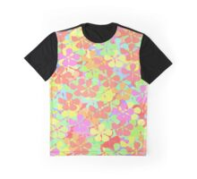 Colorful Flower Graphic T-Shirt