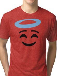 Emoji with Angel Halo Tri-blend T-Shirt