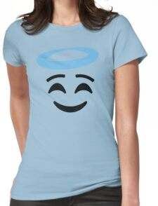 Emoji with Angel Halo Womens Fitted T-Shirt