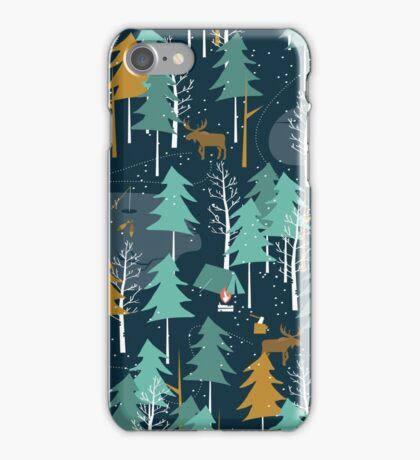 Winter Camping iPhone Case/Skin