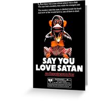 Say You Love Satan 80s Horror Podcast - Monkey Shines Greeting Card