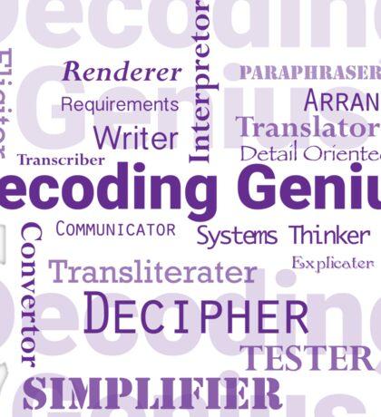 Decoding Genius 2 Sticker