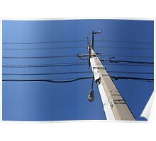 Telephone Wires Poster