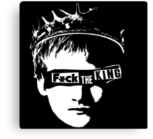 Fuck the king Canvas Print