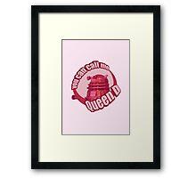 Queen Dalek Framed Print