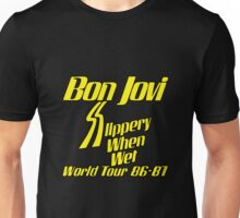 Bon Jovi Slippery When Wet World Tour 86-87 Unisex T-Shirt
