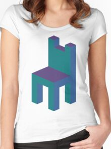 Isometric simple chair Women's Fitted Scoop T-Shirt