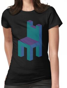 Isometric simple chair Womens Fitted T-Shirt