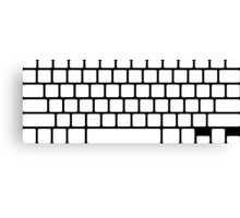 Simple white keyboard  Canvas Print