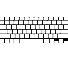 Simple white keyboard  Photographic Print