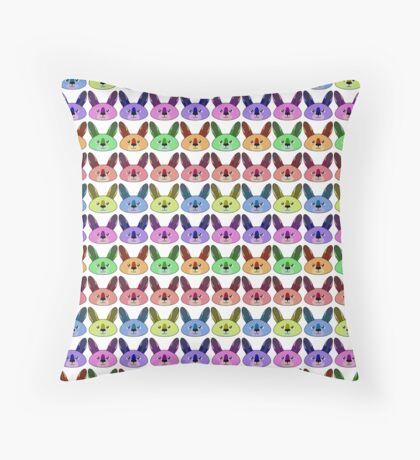 Rainbow kangaroos Throw Pillow