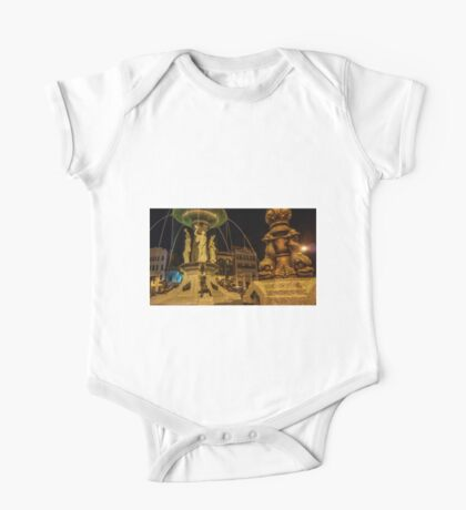 Alexandra Fountain at Night Time - Bendigo, Victoria One Piece - Short Sleeve