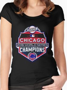 CUBS WINS WORLD SERIES! FLY THE W! Women's Fitted Scoop T-Shirt