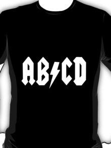 AB/CD White T-Shirt