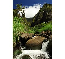 Waterfall At The Iao Needle Photographic Print