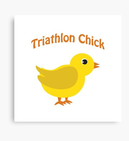 Triathlon Chick Canvas Print