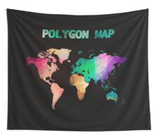 World map background in polygonal style. Modern elements world map Wall Tapestry