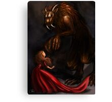 Beauty Meets the Beast Canvas Print