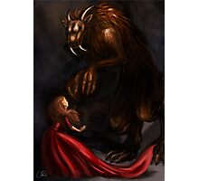 Beauty Meets the Beast Photographic Print