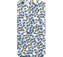 Watercolor Blue berries, branches pattern,ornament iPhone Case/Skin