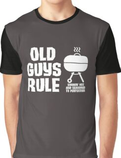 Old Guys Rule Funny Grilling Camping Graphic T-Shirt