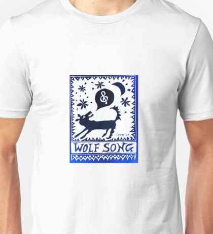 Wolf Song Blue Rev Unisex T-Shirt
