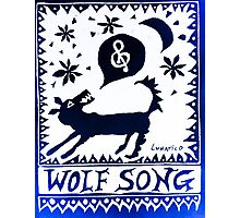 Wolf Song Blue Rev Photographic Print