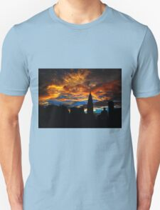 Golden Sunset Indigo Sky T-Shirt