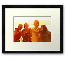 Sunset Bubbles Framed Print
