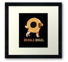 Beagle Bagel  Framed Print