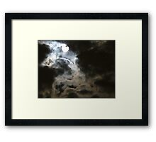 Gothic moon Framed Print