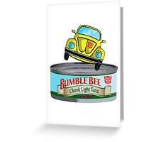 Transformers G1 Bumblebee Tuna Greeting Card