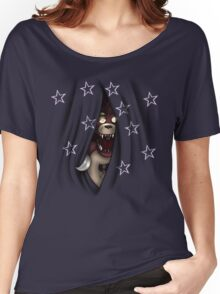 Peeking Foxy (with curtain stars) Women's Relaxed Fit T-Shirt