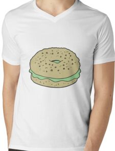 cartoon bagel Mens V-Neck T-Shirt