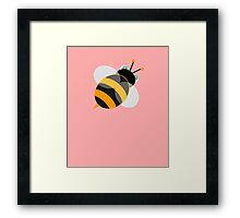 Vector Graphic Bee Framed Print