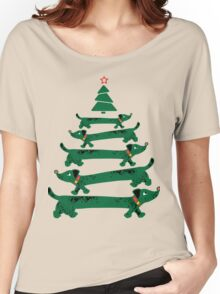 Dachshund Christmas Tree Women's Relaxed Fit T-Shirt