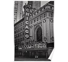 An evening at the Theatre - Chicago Poster
