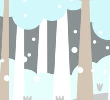 Winter Scene Sticker