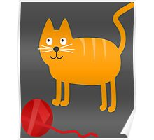 Funny Lovely Vector Graphic Cat For Animal Kitty Lovers Poster